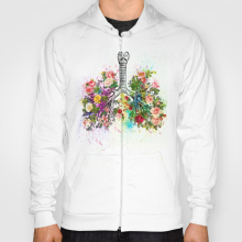 Flowers-ribs-skeleton-watercolor-hoodies